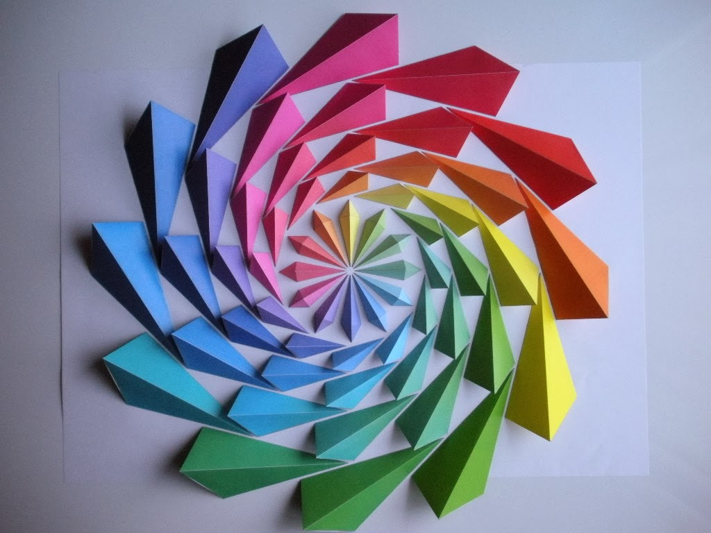 Simply Creative Colorful Origami Mosaic By Kota Hiratsuka