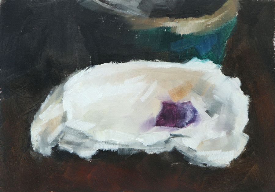 Clair Hartmann Daily Painting: Oyster Shell Paint Sketch