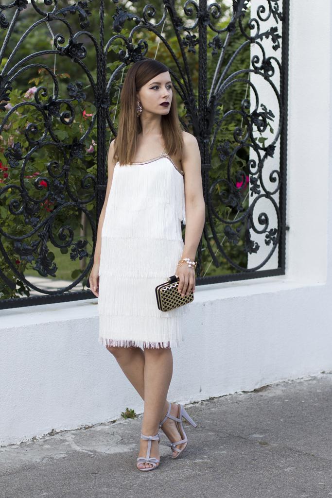 adina nanes rochie alba cu franjuri bonprix