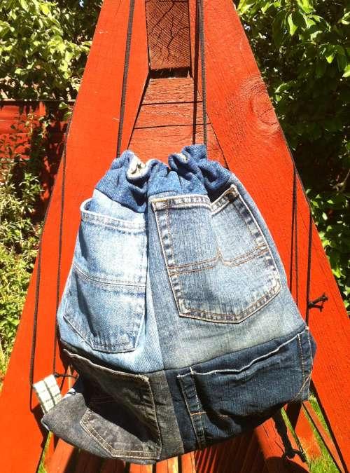 Sewing For Utange Pocketed Drawstring Backpack
