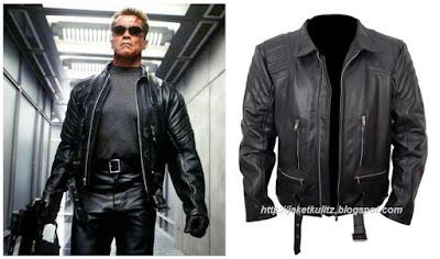 Gambar jaket Kulit Arnold Terminator 3