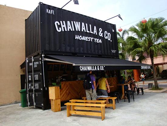 coffee shop outdor dengan konsep bangunan kontainer