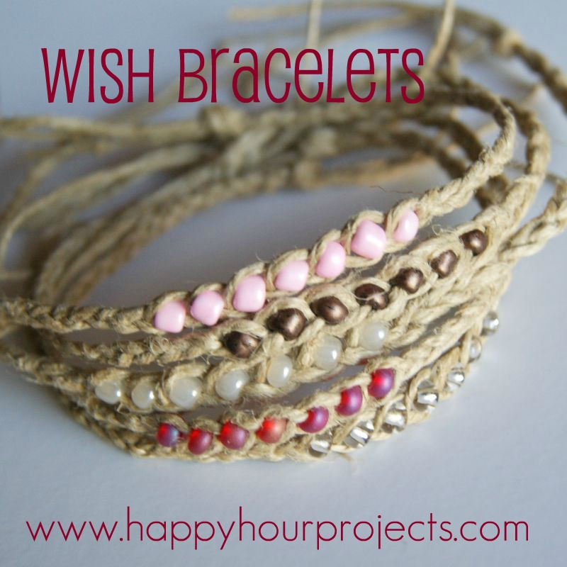 The Idea Behind A Wish Bracelet Is That You Make And Tie It On Eventually Hemp Wears Out Will Lose Beads