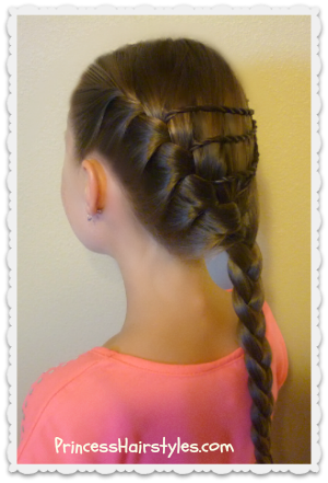 diagonal french braid with twist braid accents