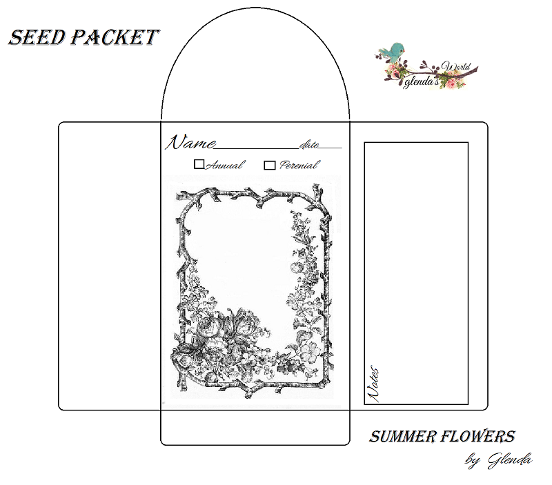 Divine image for free printable seed packets