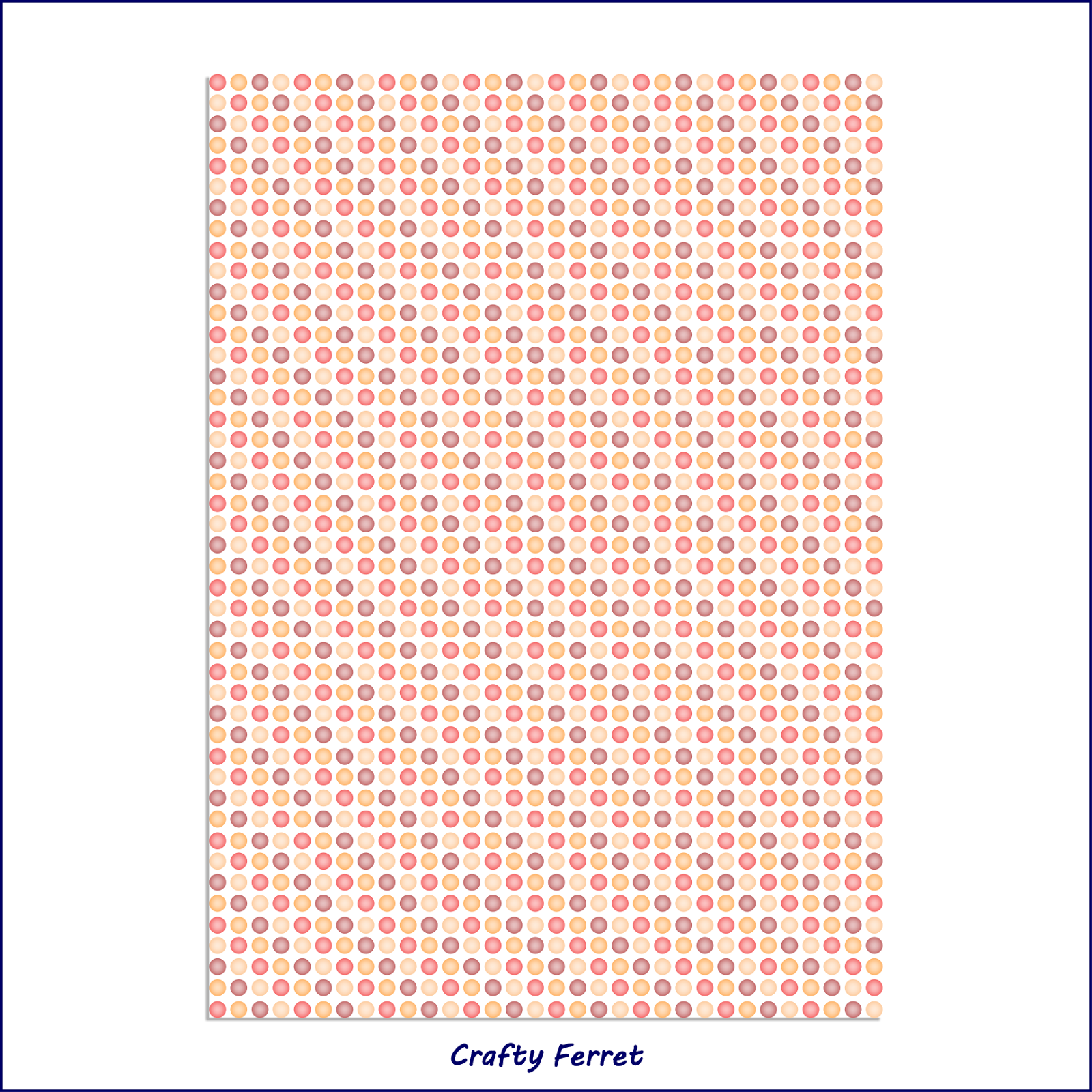 A4 printable red, yellow and orange faded spots craft backing paper.