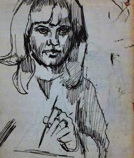 Pauline Boty, Self Portrait, 1955