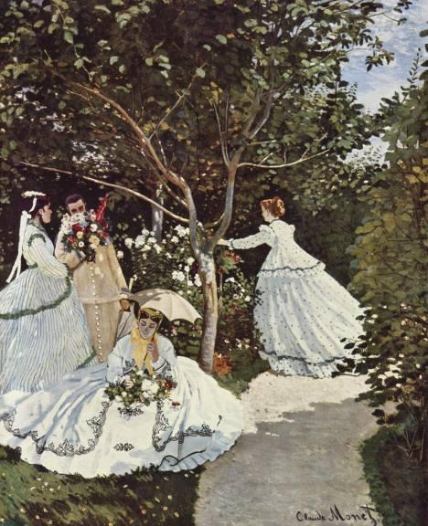 Mulheres no Jardim, pintura de Claude Monet.