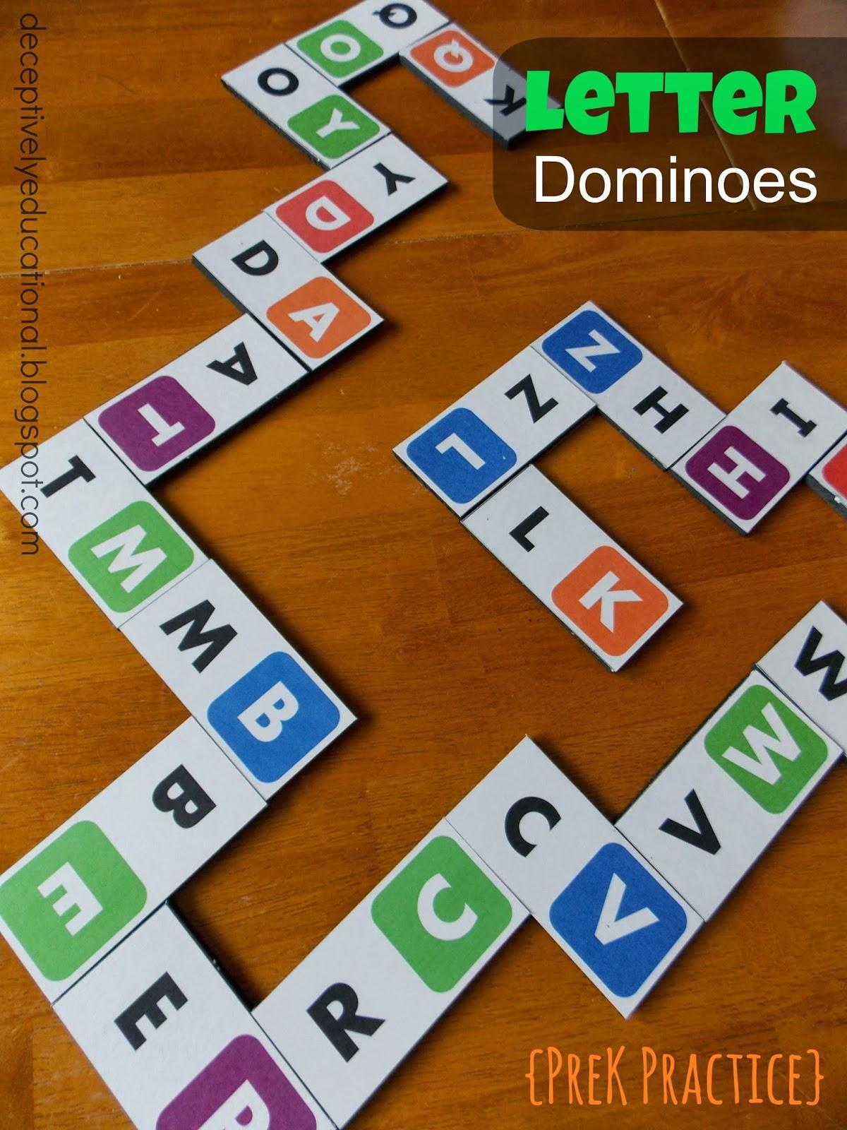 Relentlessly Fun Deceptively Educational Letter Dominoes