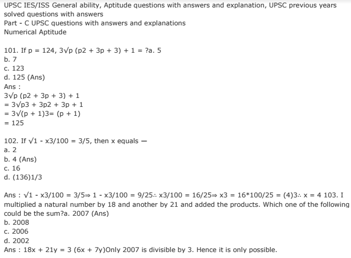 Maths Aptitude Questions And Answers Pdf