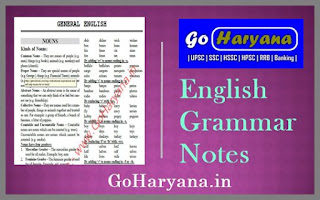 Download English Grammar Notes PDF For All Competitive Exams