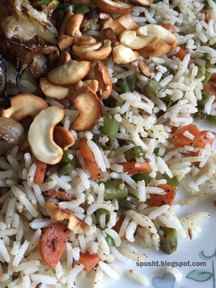quick pulav minute pulao veg pulao