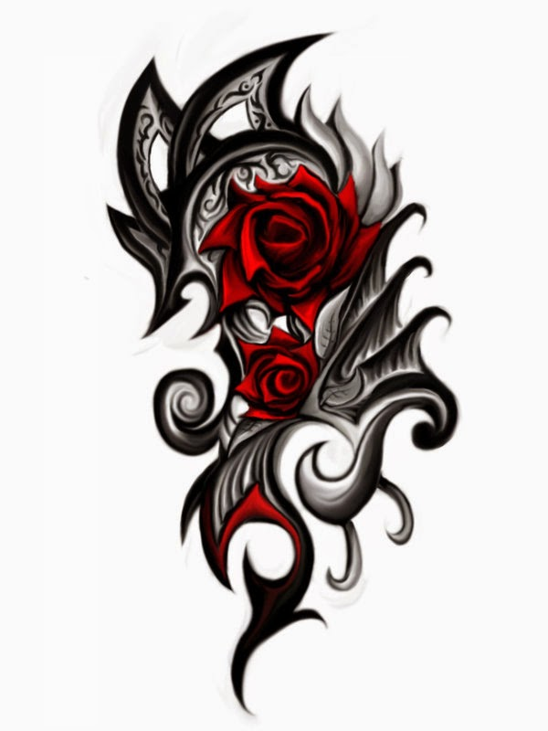 tribal rose tattoos designs 787440