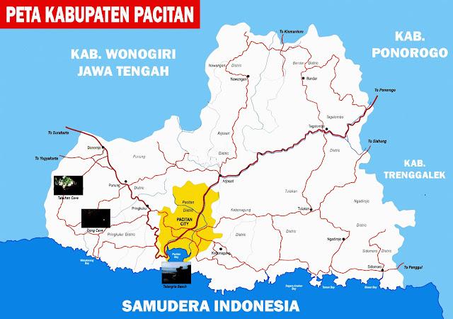 Gambar Peta Pacitan