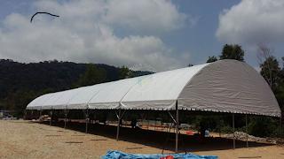 Kanopi Halfmoon | Canopy | Pemasangan Khemah besar Halfmoon sebagai Dewan Majlis Keraian di Kuantan