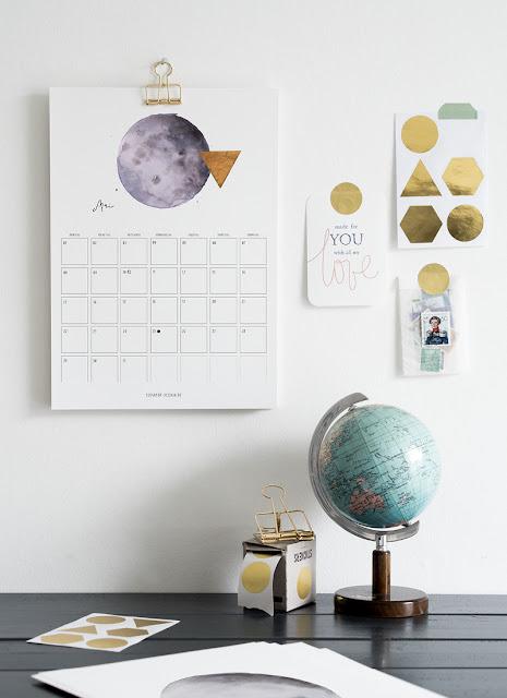 Freebie, Drucken, Jahreskalender