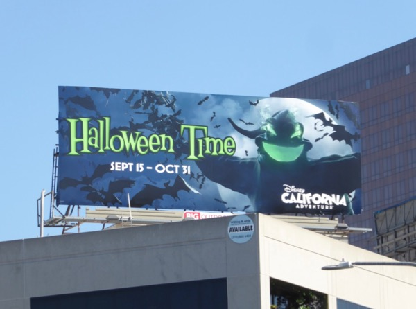 Halloween Time Disney California Adventure 2017 billboard