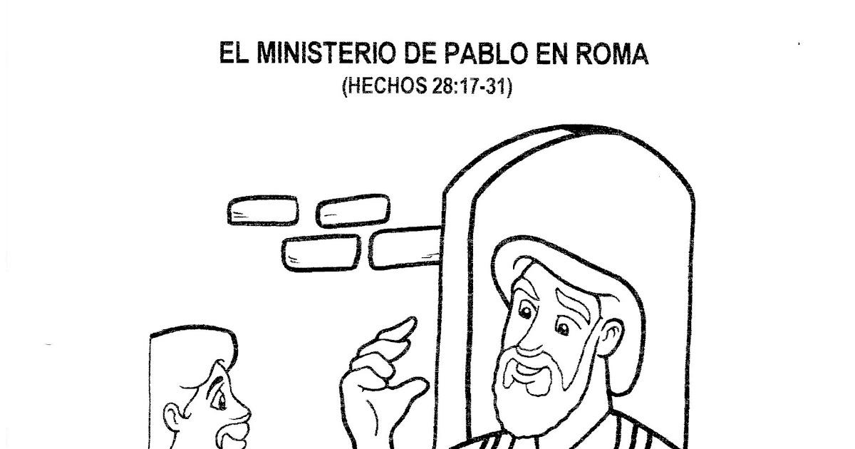 El Ministerio de Pablo en Roma para colorear - Dibujos ...