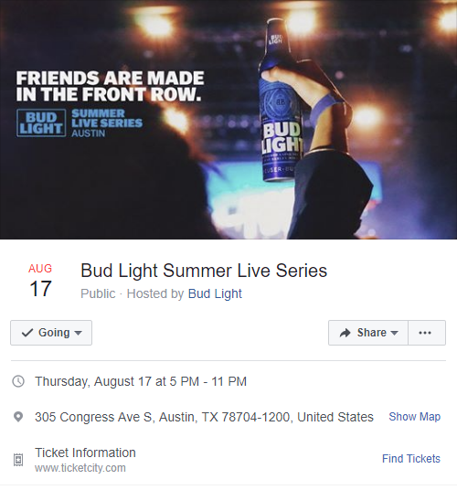Bud Light Summer Live Series Final Event on Facebook