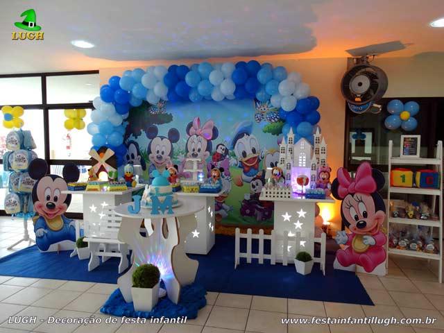 Decoração de aniversário Baby Disney para festa infantil feminina - Provençal simples