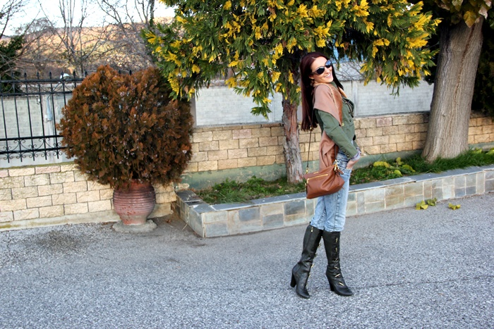 how to wear army green color for fall autumn
