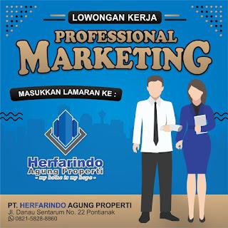 Lowongan Kerja Pemasaran Property PT. HERFARINDO AGUNG PROPERTY Pontianak