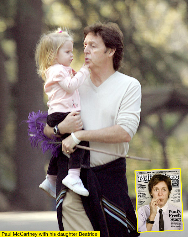 Sir Paul McCartney And Daughter Beatrice