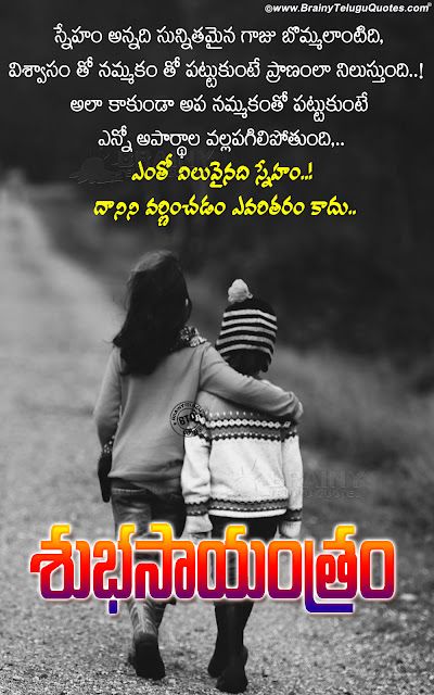 famous good evening messages in telugu, telugu quotes on friendship, best words on friendship in telugu