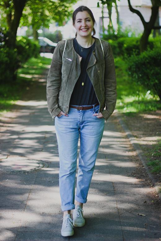 beautyelfe outfit boyfriend jeans mit lederjacke und. Black Bedroom Furniture Sets. Home Design Ideas