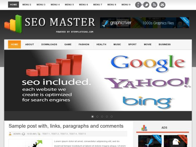 SEO Master Blogger Template