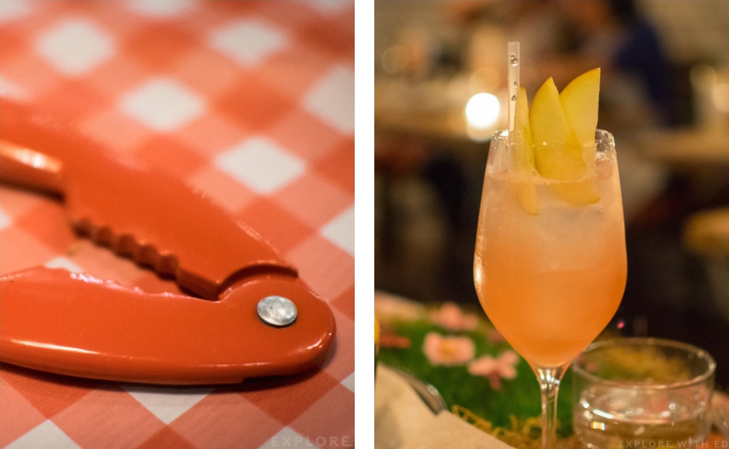 Burger and Lobster Cocktails, Lobster utensil