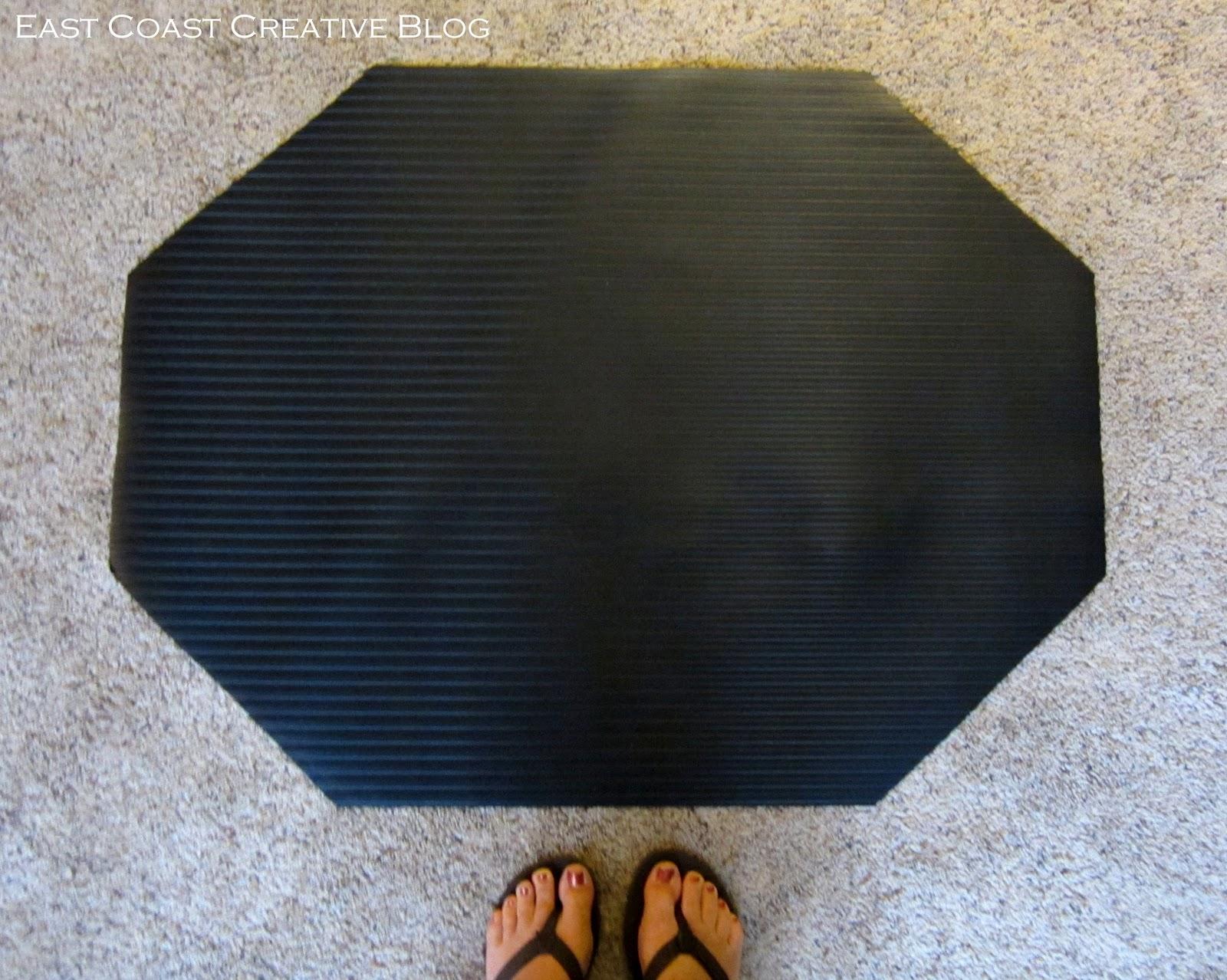 diy fabric floorcloth cushioned kitchen floor mats June 21