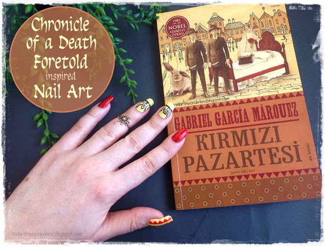 Chronicle of a Death Foretold (Kırmızı Pazartesi) inspired Nail Art