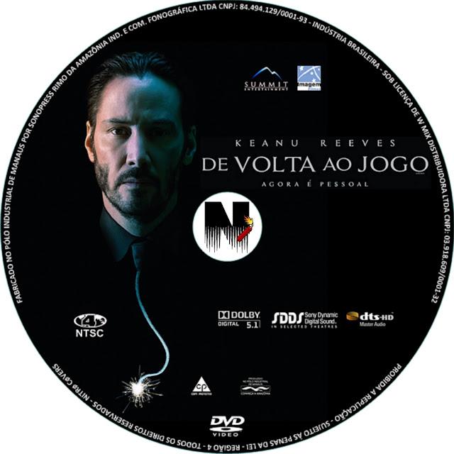 Label DVD John Wick De Volta Ao Jogo