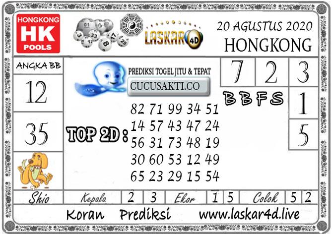 Prediksi Togel HONGKONG LASKAR4D 20 AGUSTUS 2020
