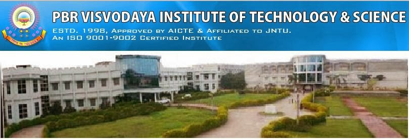 PBR VITS Engineering College Kavali  Visvodaya Institute of Technology and Science Engineering College