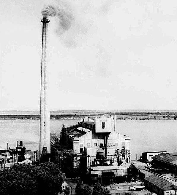 Usina do Gasômetro de Porto Alegre, em 1950