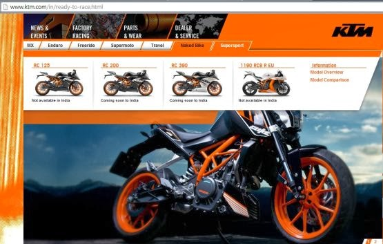 KTM RC 390 and RC 200 Coming soon to India