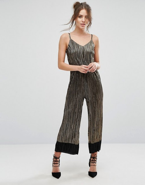 dark gold jumpsuit, strappy metallic jumpsuit, warehouse metallic jumpsuit,