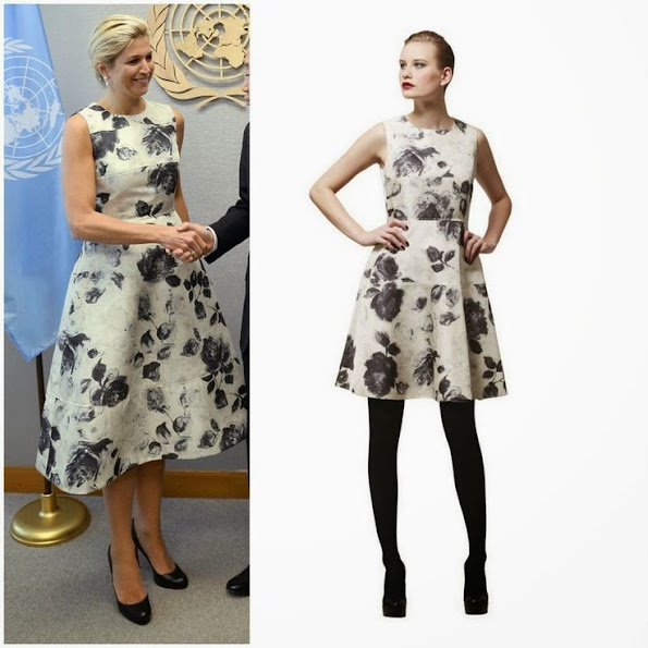 Queen Maxima wore Flower Print Natan Dress