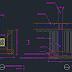 Contoh Gambar AutoCAD Detail Pondasi Foot Plat Beton Bertulang
