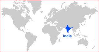 Gambar Peta letak India