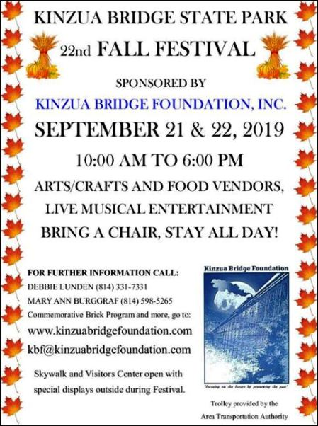 9-21/22 Kinzua Bridge State Park Fall Festival