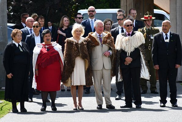 Camilla, Duchess of Cornwall and Prince Charles, Prince of Wales met with New Zealand's Prime Minister Jacinda Ardern
