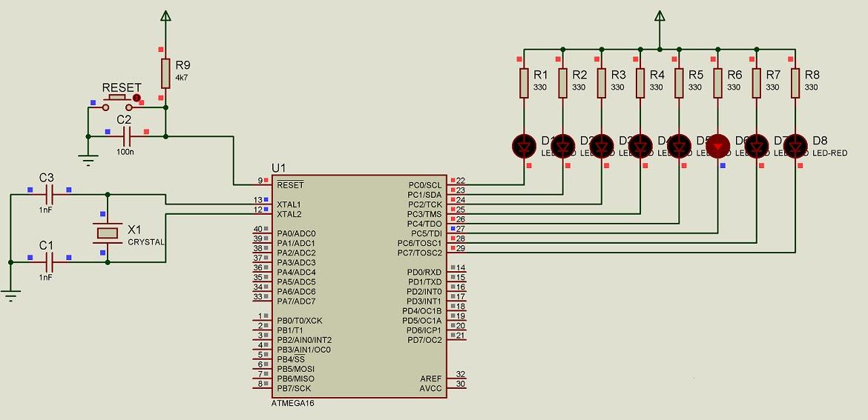 LES ELEKTRONIKA: Membuat Program Running LED (Fungsi Output
