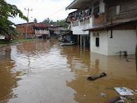 Sungai batanghari mengamuk sehinga menyebabkan banjir ini gambar beberapa rumah yg terendam banjir