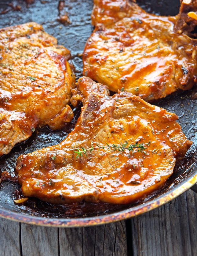 The Iron You: Honey Garlic Glazed Pork Chops