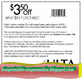 Free Printable Ulta Coupons