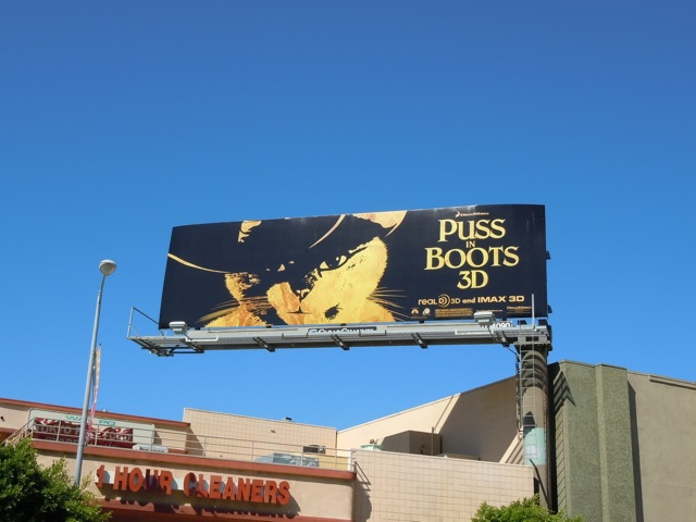 Puss in Boots 3D billboard