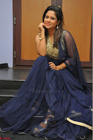 Shilpa Chakravarthy anchor and actress in anarkali dress  Exclusive 008.JPG